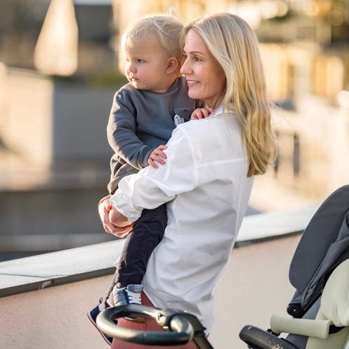 Stokke® Xplory® 6 Balance Limited Edition with Stokke® Stroller Seat. Tranquil Blue.